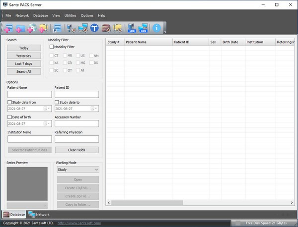 Sante PACS Server(医学图片管理软件)